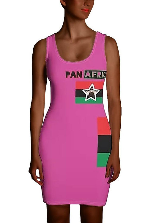 Pink Proud Pan African Sublimation Cut & Sew Dress