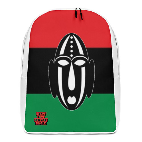 Pan African Mask Minimalist Backpack