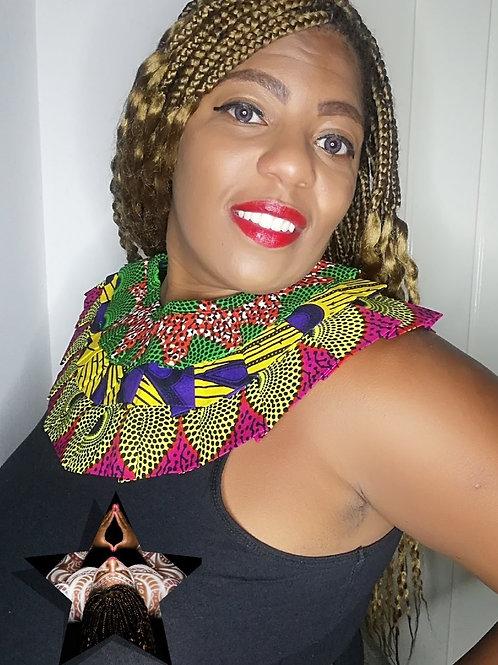 Akosua's Passion Ankara collar necklace