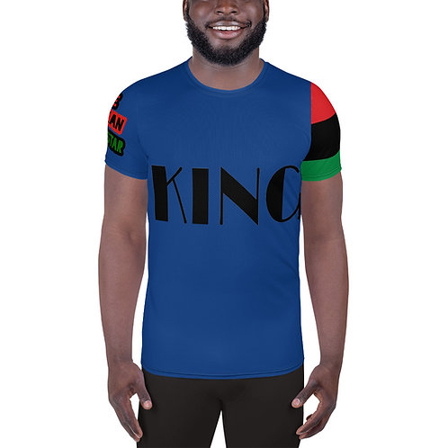 "Blue ""King"" Men's Athletic T-shirt"