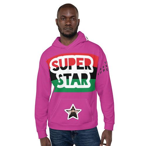 Pink Superstar Pan African Unisex Hoodie