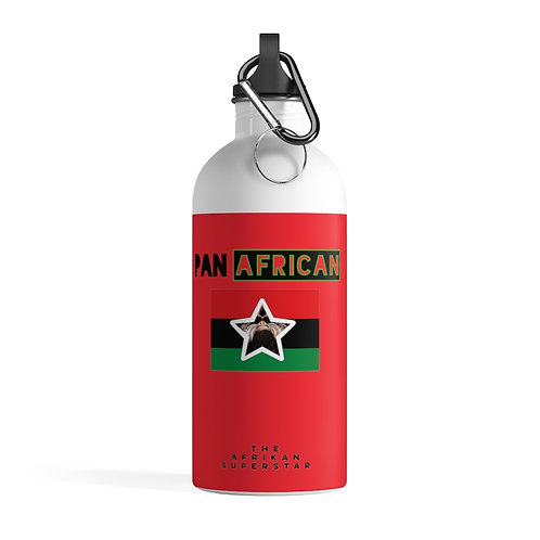 Red Proud Pan African Stainless Steel Water Bottle