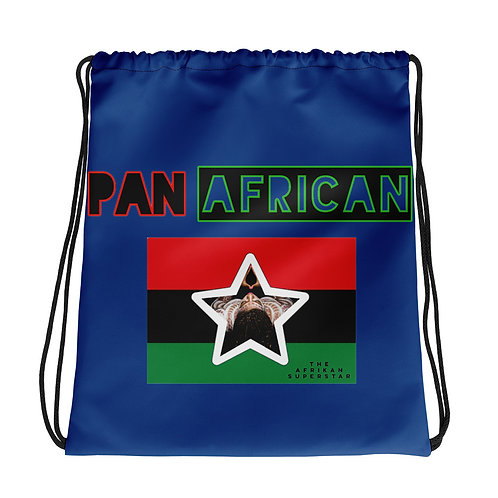 Blue Proud Pan African Drawstring bag