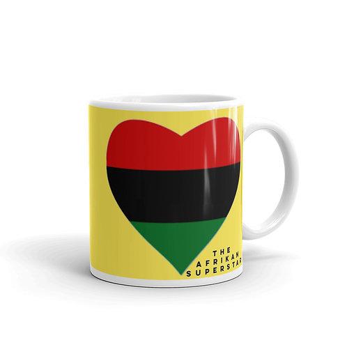 Yellow Pan African Love Mug