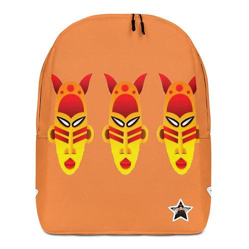 Orange Fire Triple Mask Minimalist Backpack