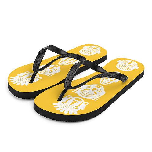 Yellow Quad Mask Flip-Flops