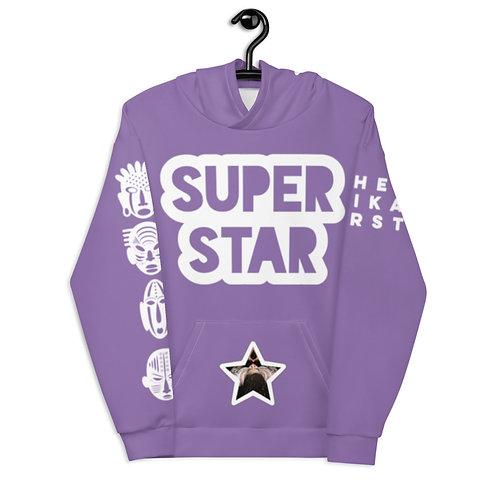 Purple Quad Superstar Pan African Unisex Hoodie