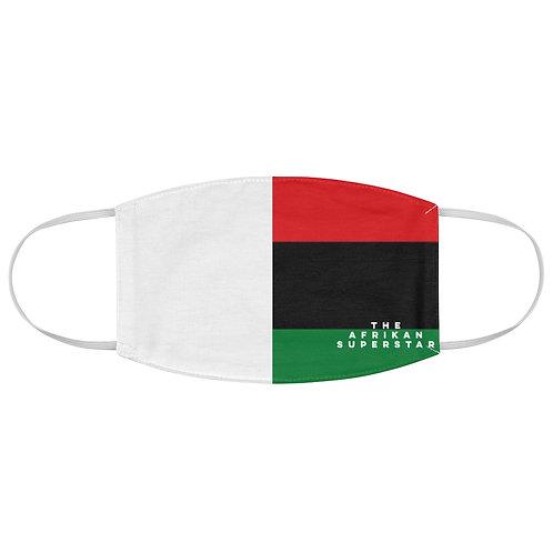 White Split Pan African Fabric Face Mask