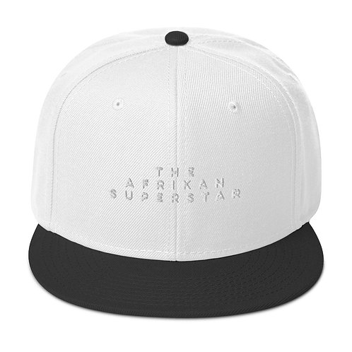 Horizontal The Afrikan Superstar black logo Snapback Hat