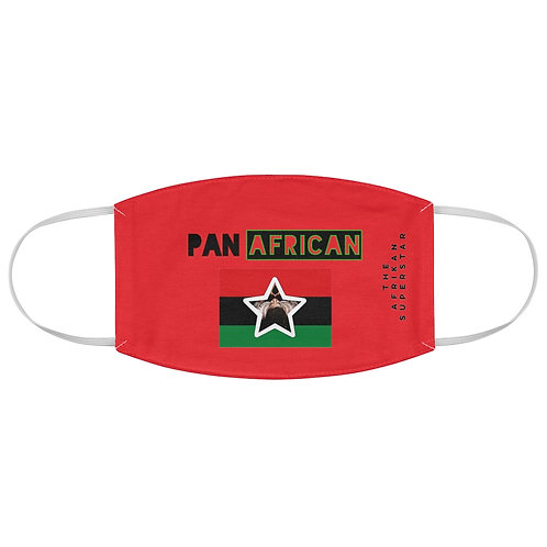 Red Proud Pan African Fabric Face Mask