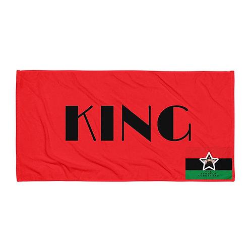 Red Pan African King Towel