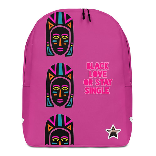 Pink Explosion Mask Minimalist Backpack