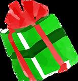 A colorful christmas present