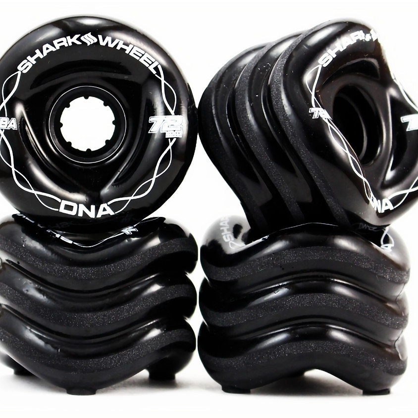 Longboard Wheels Shark DNA 72mm 78A Black