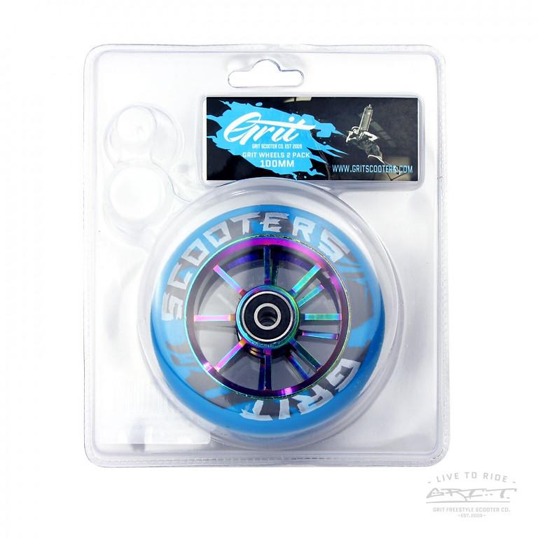 Wheels Grit Duo Pack 110mm Blue/Oil Slick