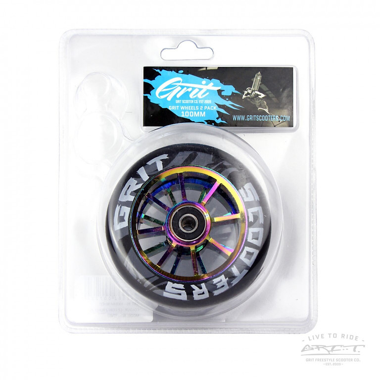 Wheels Grit Duo Pack 110mm Black/Oil Slick