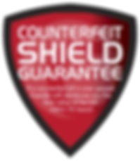 Cassida Counterfiet Shield Guarantee protects against counterfeit currency.
