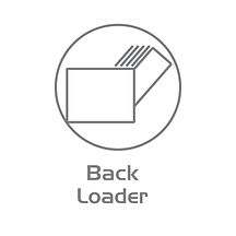 Back loading bill counter design.