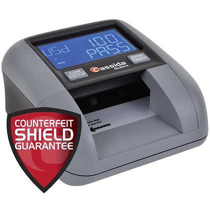 Cassida Counterfeit Detector with Counterfeit Sheild Guarantee.