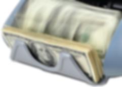 Cassida bill counter stacker capacity with dollar bills.