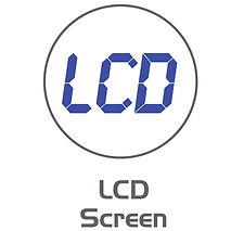 Icon to illustrate the LCD screen of a Cassida Coin Counter & Sorter.