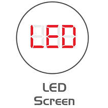 Icon to illustrate the LED screen of a Cassida Coin Counter & Sorter.