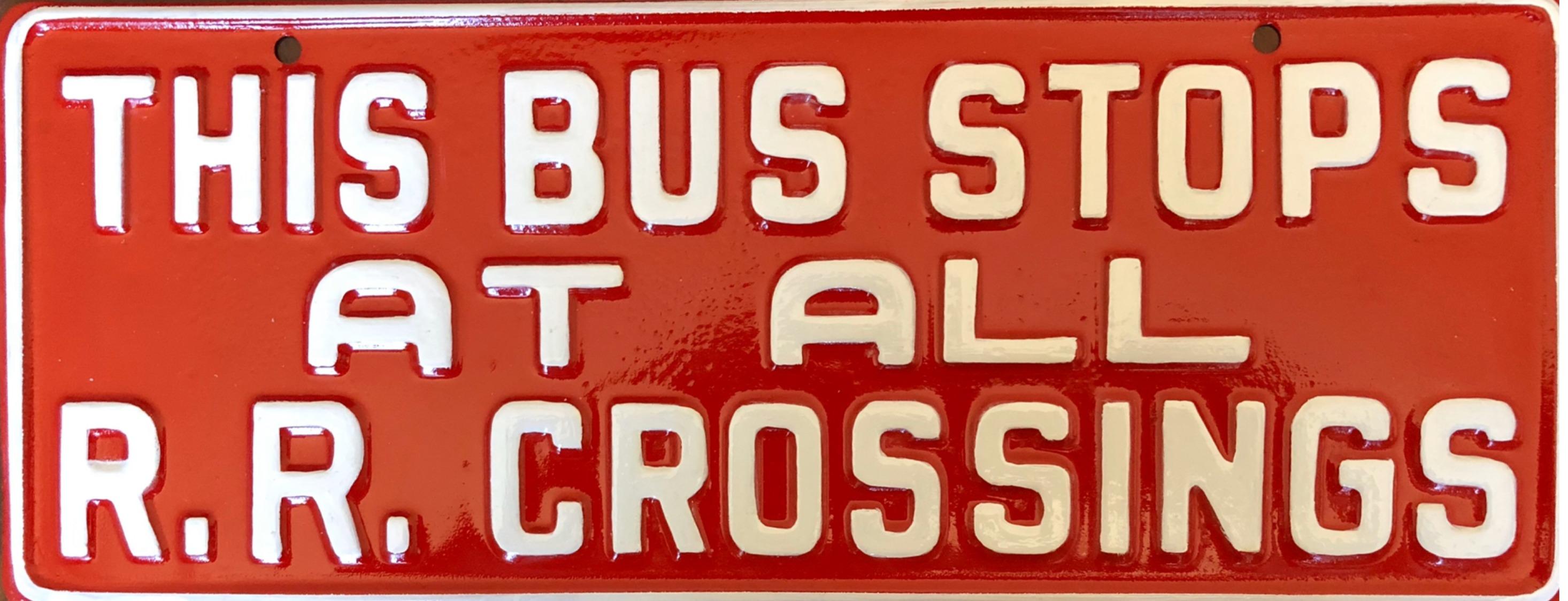 1950s Schoolbus Sign