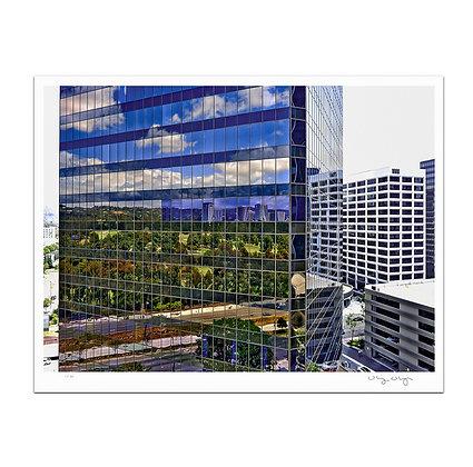 Century City Glass Print
