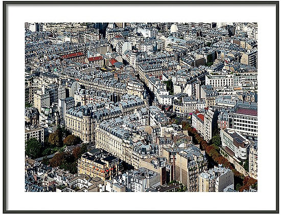 Paris From Above Framed