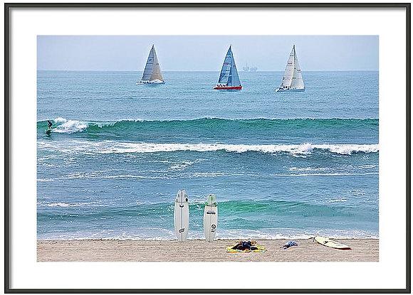 Huntington Beach Arranged Framed