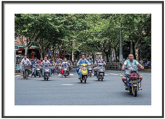Off The Line In Shanghai Framed
