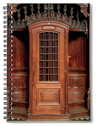 Confessional At Basilica Of Notre Dame De Fourviere Notebook