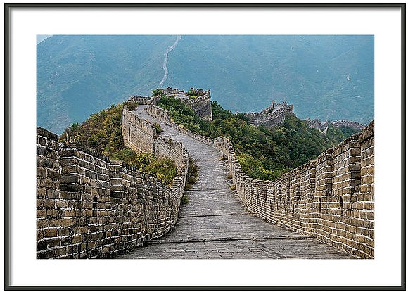 Down The Great Wall Framed