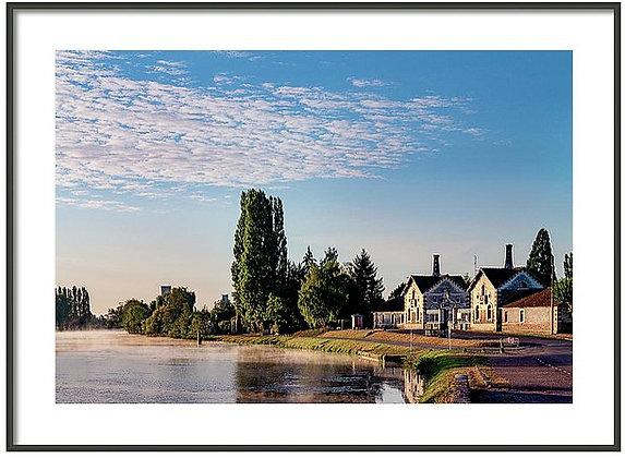 Morning On The Yonne Framed