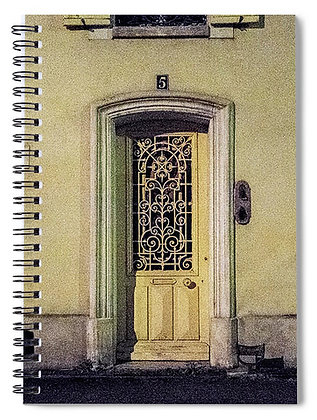 Yellow Door # 5 Notebook