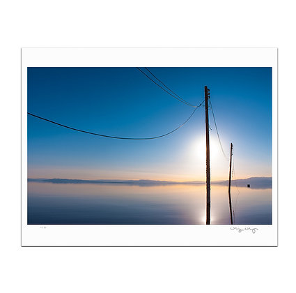 Abandon Power Lines At Salton Sea Print