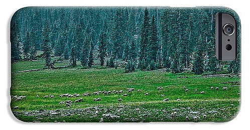 Grazing On The High Grounds phone case