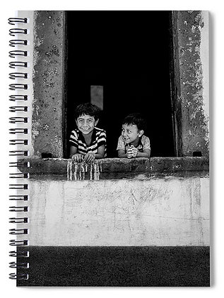 Brothers In The Window Notebook