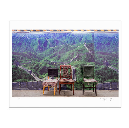 Three Chairs in Beijing Subway Print