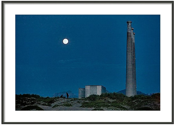 Blue Moon At Morro Bay Framed
