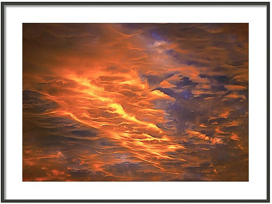Fire In The Sky Framed