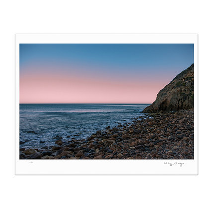 Glass Off At Point Dume Print