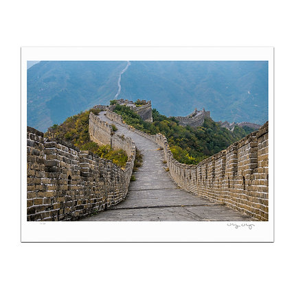 Down The Great Wall Print