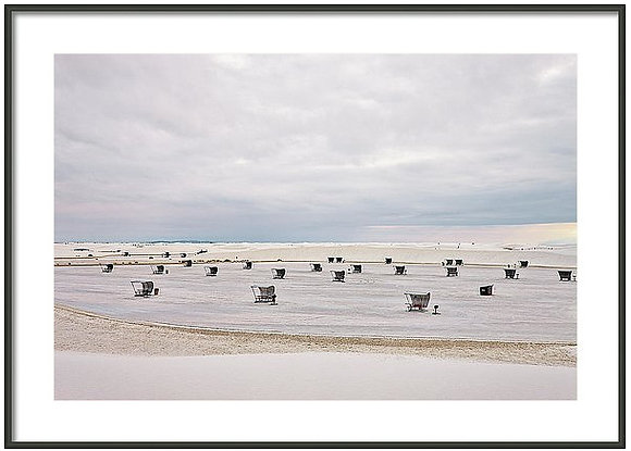 Camp At White Sands Framed