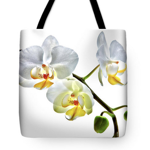 Orchids on White Tote Bag