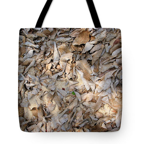 Sand and Leaves Tote Bag