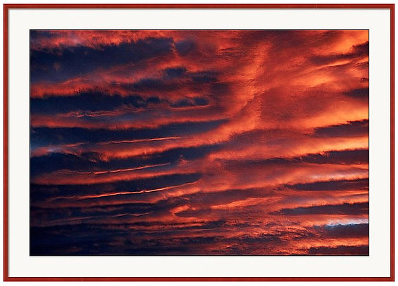 Cloud Rolls Custom Framed Print