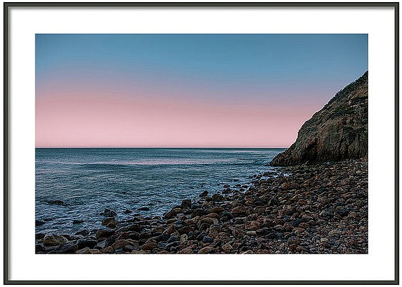 Glass Off At Point Dume Framed