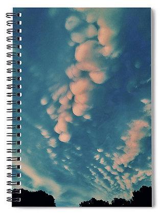 Cotton Ball Clouds Notebook