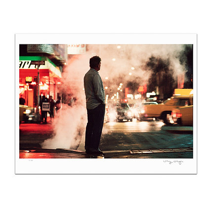 Man At Times Square Print